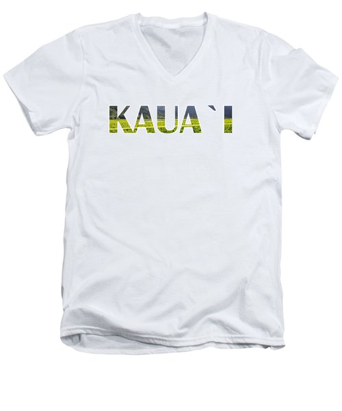 Kauai Letter Art Men's V-Neck T-Shirt