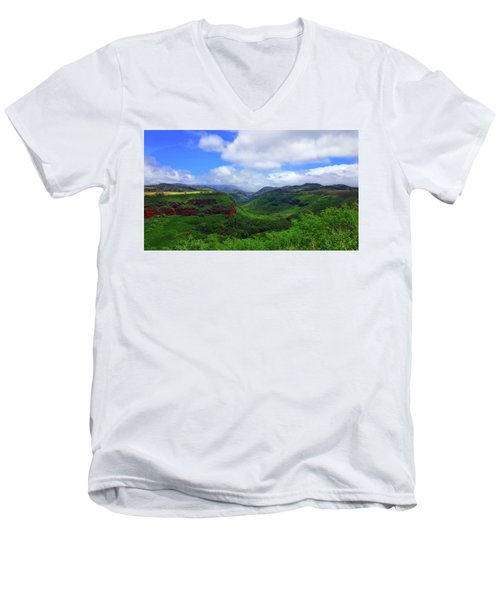 Kauai Mountains Men's V-Neck T-Shirt