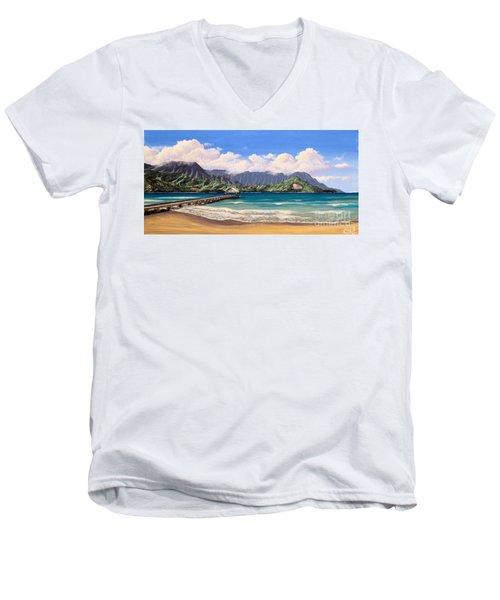 Kauai Surf Paradise Men's V-Neck T-Shirt