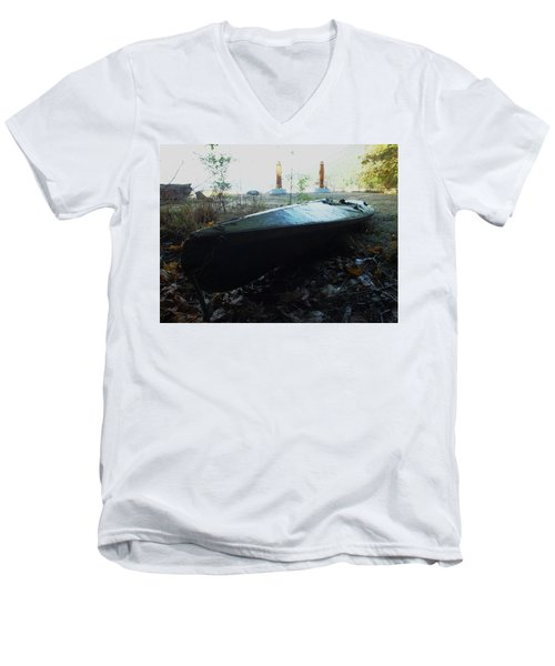 Men's V-Neck T-Shirt featuring the photograph Kayak by Mark Alan Perry