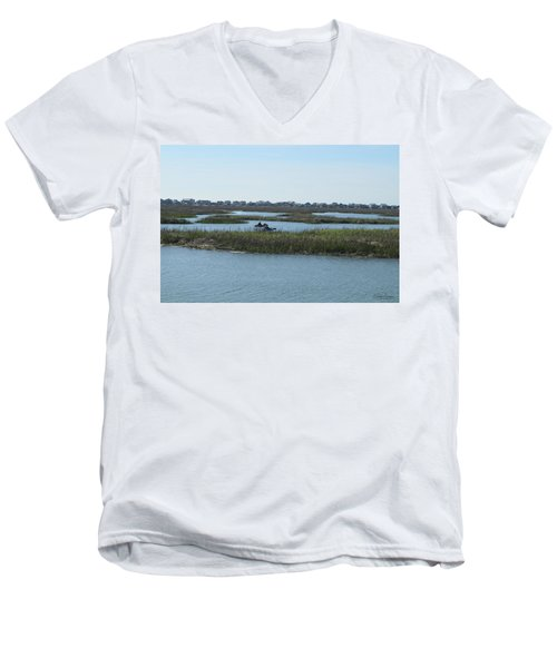 Kayakers Men's V-Neck T-Shirt