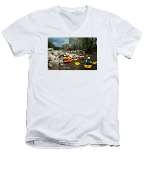 Kayaking Class Men's V-Neck T-Shirt