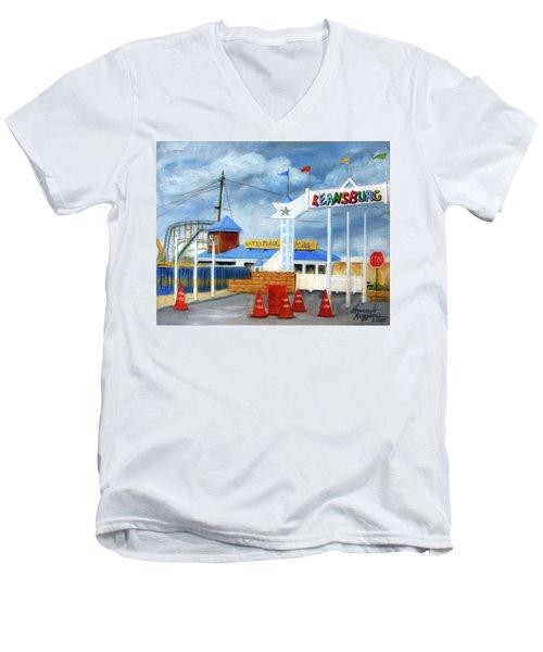 Keansburg Amusement Park Men's V-Neck T-Shirt