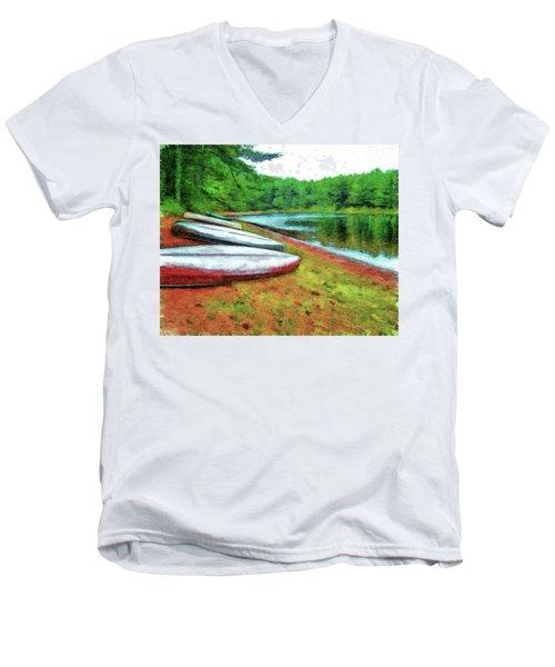 Kearney Lake Beach Men's V-Neck T-Shirt