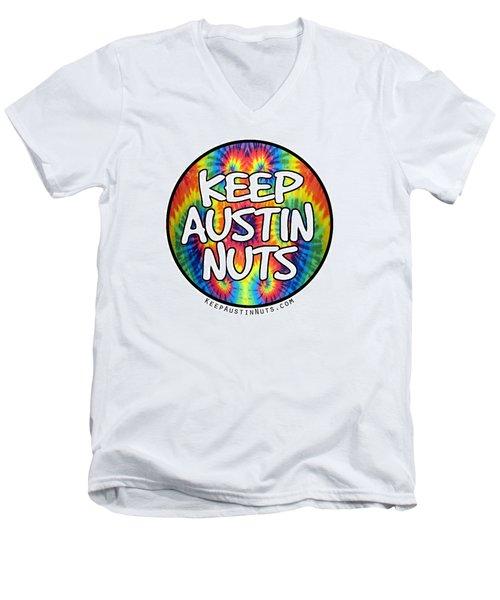 Keep Austin Nuts Men's V-Neck T-Shirt by Ismael Cavazos