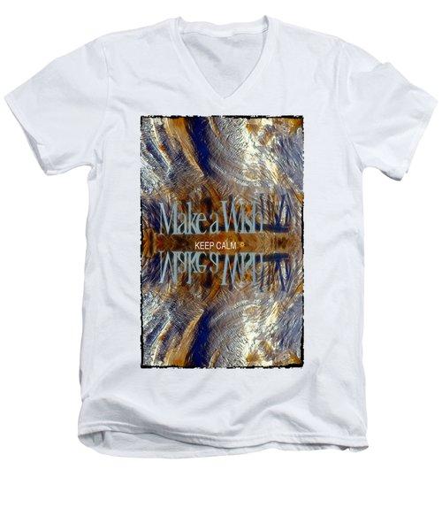Keep Calm And Make A Wish Men's V-Neck T-Shirt