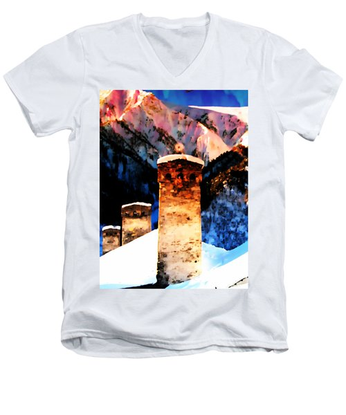 Keeper Of The Light Adishi Svaneti Men's V-Neck T-Shirt