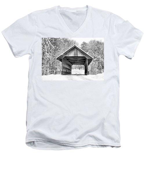 Keniston Covered Bridge  Men's V-Neck T-Shirt