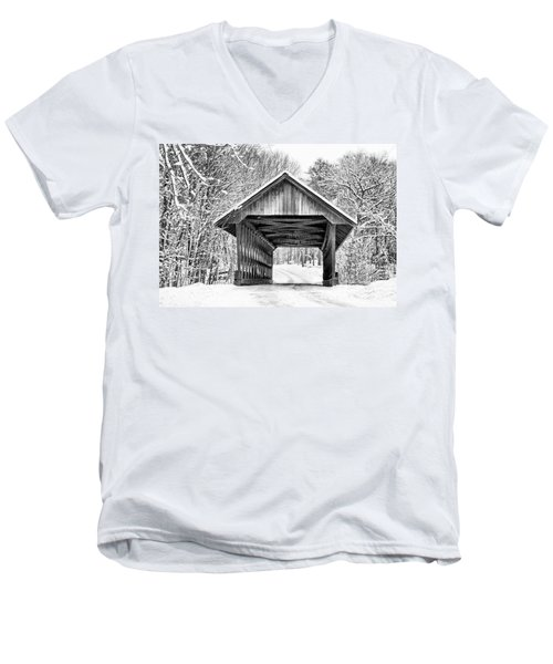 Keniston Covered Bridge  Men's V-Neck T-Shirt