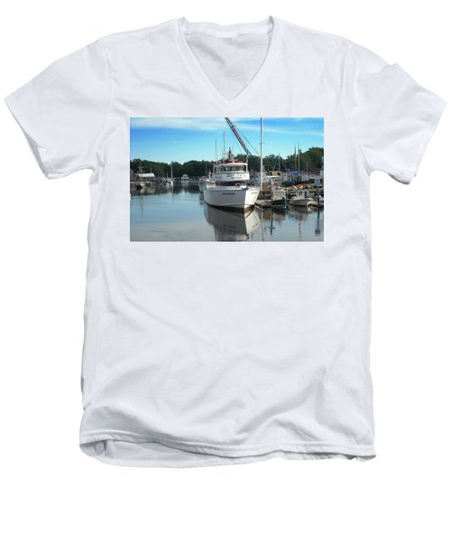 Kennubunk, Maine -1 Men's V-Neck T-Shirt by Jerry Battle