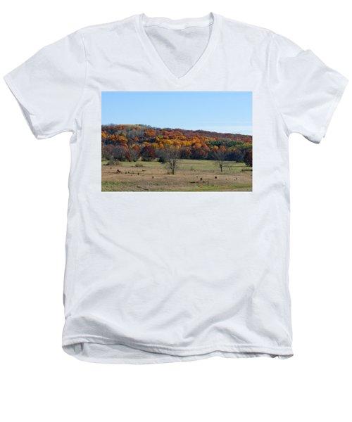 Kettle Morraine In Autumn Men's V-Neck T-Shirt