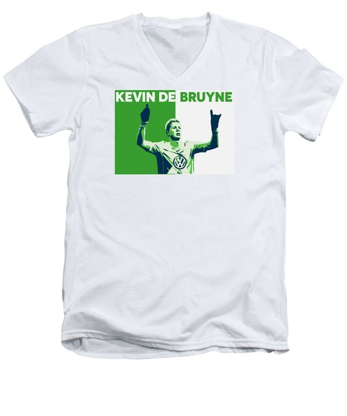 Kevin De Bruyne Men's V-Neck T-Shirt by Semih Yurdabak