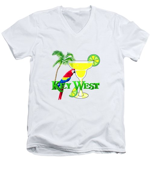 Key West Margarita Men's V-Neck T-Shirt by Chris MacDonald