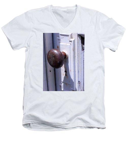 Keyhole Men's V-Neck T-Shirt