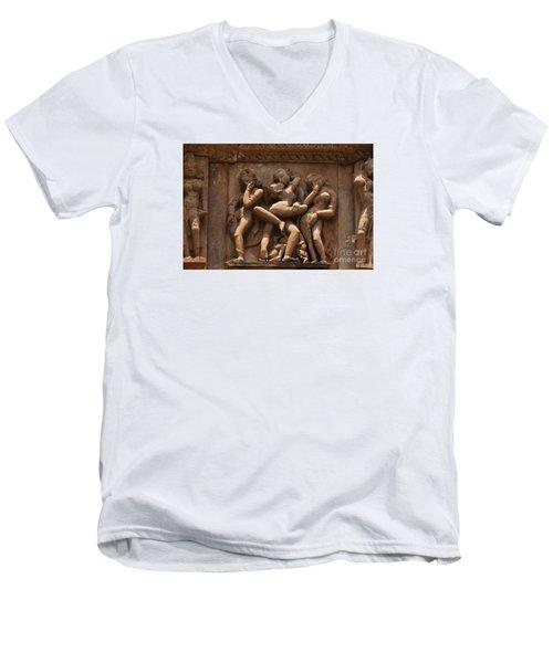 Khajuraho Temples 6 Men's V-Neck T-Shirt