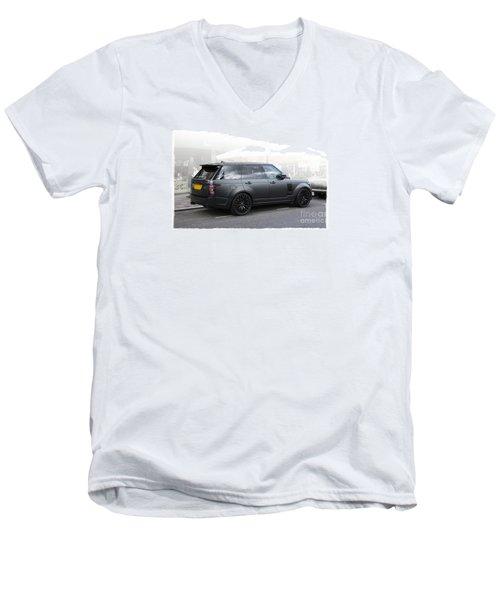 Khan Range Rover Men's V-Neck T-Shirt by Roger Lighterness