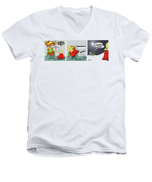 Kid Monsta Triptych 3 Men's V-Neck T-Shirt