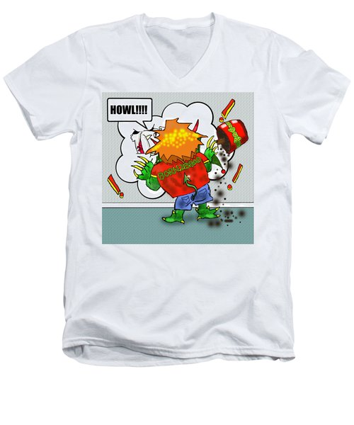 Kid Monsta Xmas 2 Men's V-Neck T-Shirt