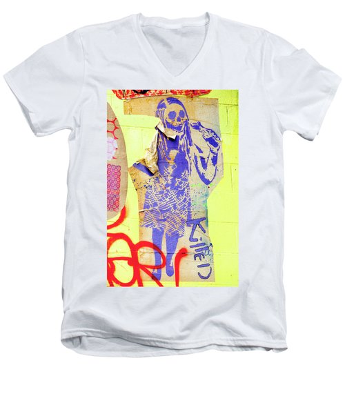 Men's V-Neck T-Shirt featuring the photograph Killed by Art Block Collections
