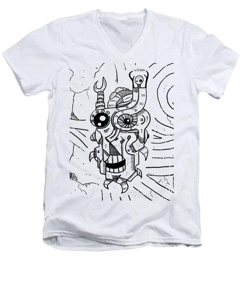 Killer Robot Men's V-Neck T-Shirt by Sotuland Art