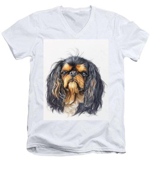King Charles Spaniel Men's V-Neck T-Shirt