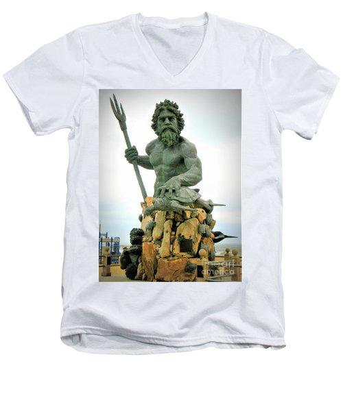 King Neptune Statue Men's V-Neck T-Shirt