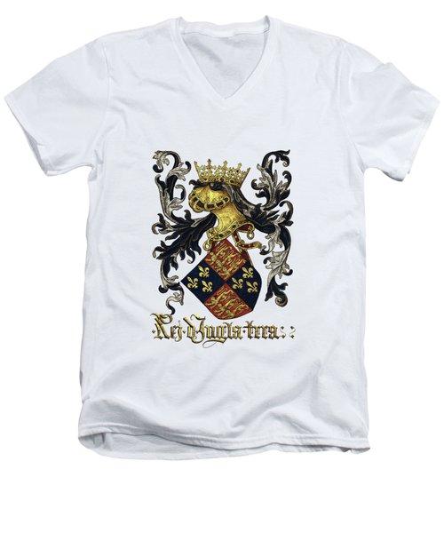 King Of England Coat Of Arms - Livro Do Armeiro-mor Men's V-Neck T-Shirt