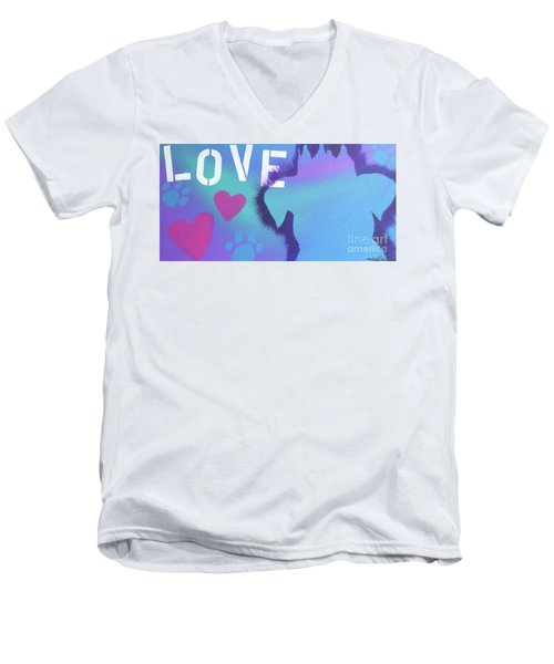 Men's V-Neck T-Shirt featuring the painting King Of My Heart by Melissa Goodrich
