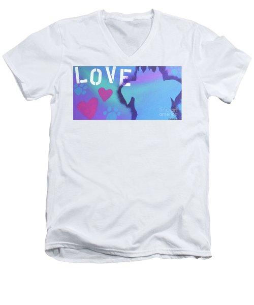 King Of My Heart Men's V-Neck T-Shirt by Melissa Goodrich