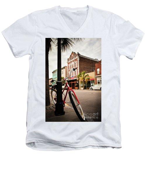 King Street Charleston Sc  -7436 Men's V-Neck T-Shirt