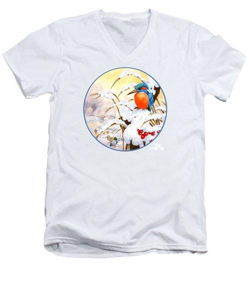 Kingfisher Plate Men's V-Neck T-Shirt