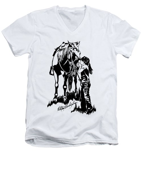 Kiss Men's V-Neck T-Shirt