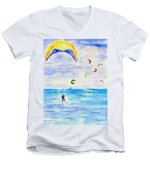 Kite Surfer Men's V-Neck T-Shirt