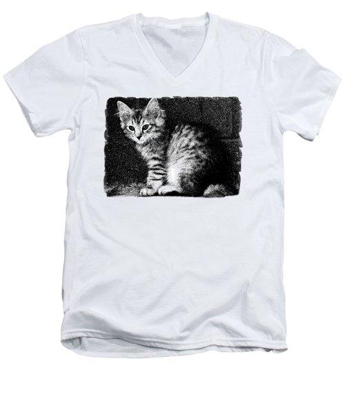 Kitten Cleo Men's V-Neck T-Shirt