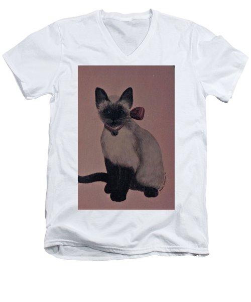 Kitty Cat Men's V-Neck T-Shirt