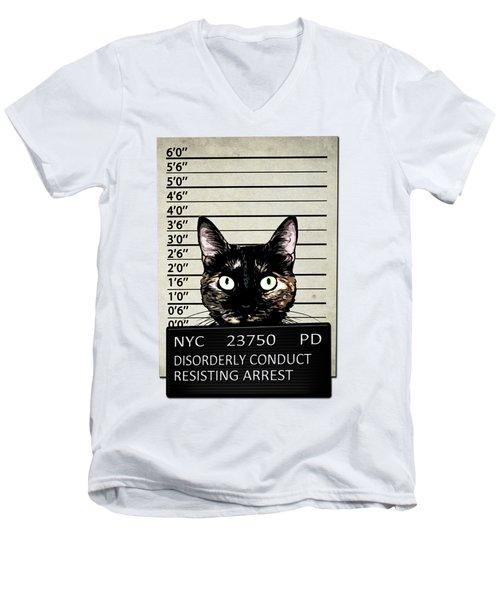 Kitty Mugshot Men's V-Neck T-Shirt