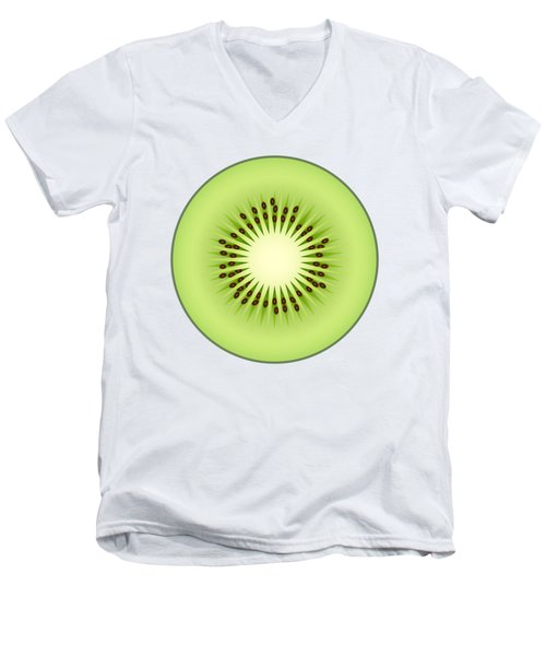 Kiwi Fruit Men's V-Neck T-Shirt by Miroslav Nemecek