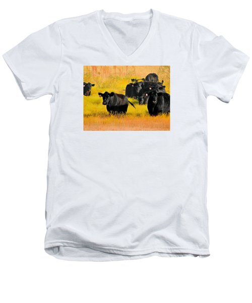 Knee High In Color Men's V-Neck T-Shirt by Laura Ragland