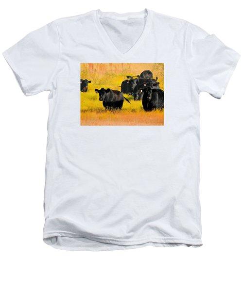 Knee High In Color Men's V-Neck T-Shirt
