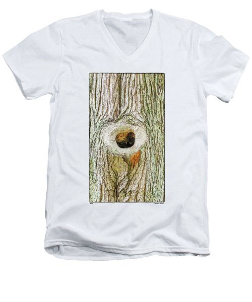 Men's V-Neck T-Shirt featuring the photograph Knot by R Thomas Berner