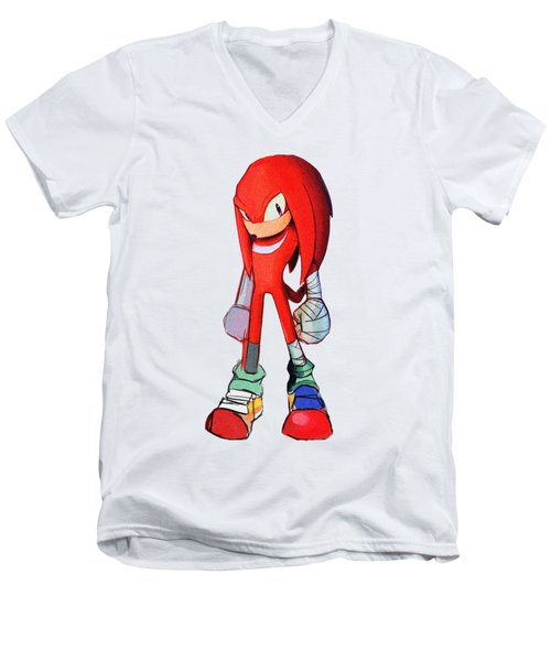 Knuckles Sketch Men's V-Neck T-Shirt
