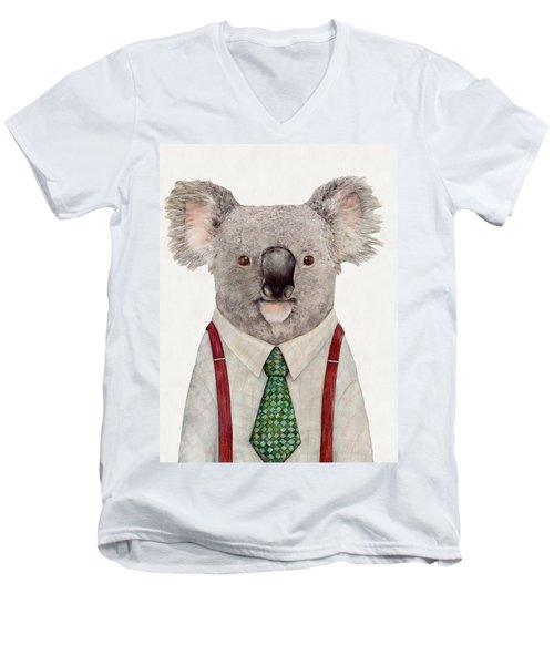 Koala Men's V-Neck T-Shirt by Animal Crew