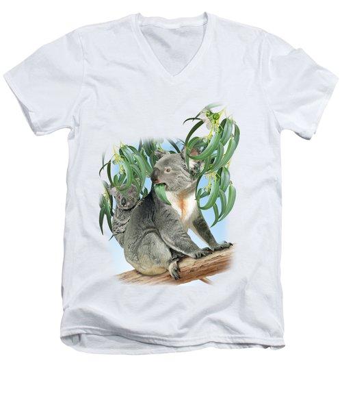 Koala Men's V-Neck T-Shirt by Vladimir Timokhanov