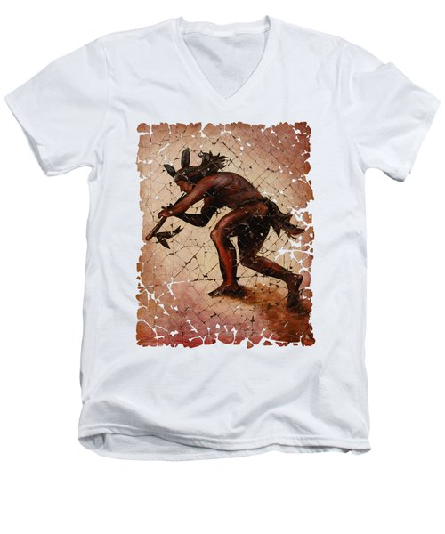 Kokopelli The Flute Player  Men's V-Neck T-Shirt