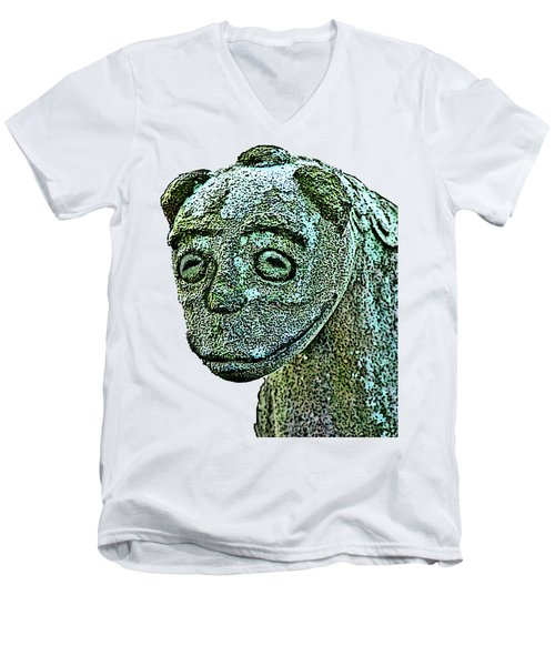 Komainu03 Men's V-Neck T-Shirt