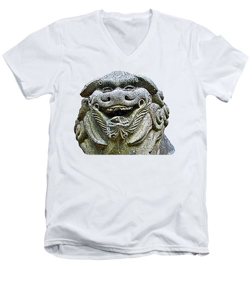 Komainu04 Men's V-Neck T-Shirt
