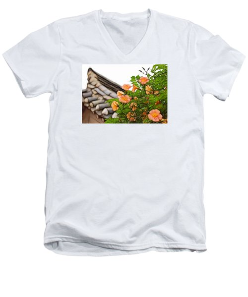 Men's V-Neck T-Shirt featuring the photograph Korean Beauty by Cameron Wood