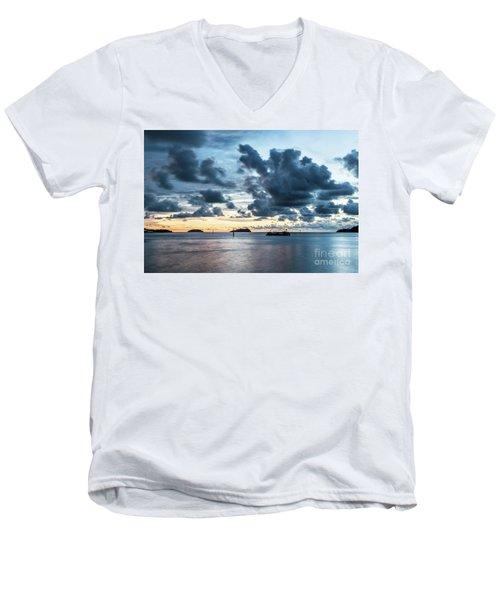 Kota Kinabalu Sunset Men's V-Neck T-Shirt