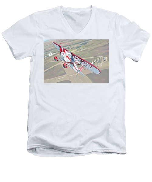 Krier Field Men's V-Neck T-Shirt