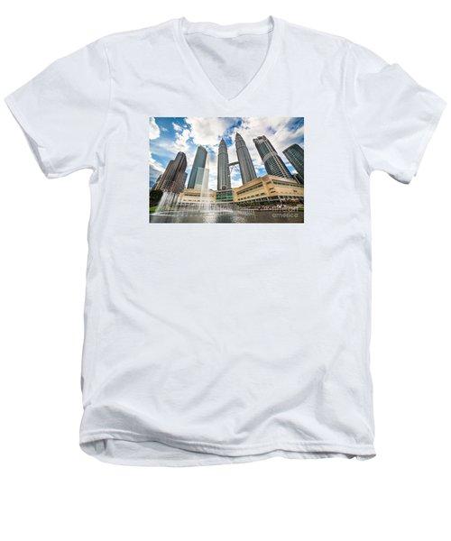 Kuala Lumpur Petronas Towers Men's V-Neck T-Shirt